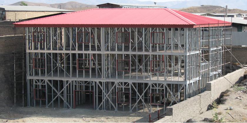 مراحل اجرای ساختمان با سیستم lsf